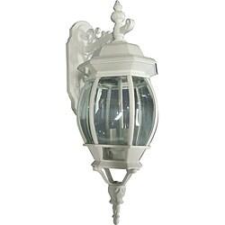 Three Light White Wall Lantern