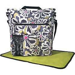Amy Michelle Lexington Charcoal Floral Diaper Bag