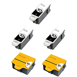 Kodak 10 Compatible Black Ink / Color Ink Cartridge (Pack of 5)
