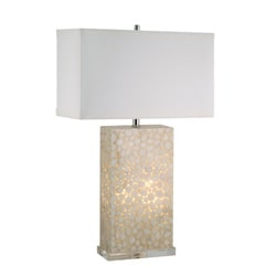 Cream River Rock Lamp with Night Light
