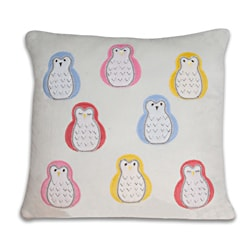Multicolor Hoot Owl 17x17-inch Pillow