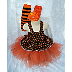 Just Girls Halloween Pumpkin Tutu Set