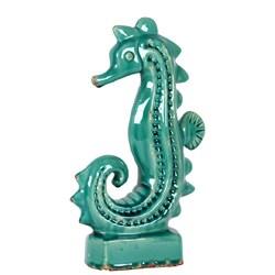 Blue Ceramic Sea Horse