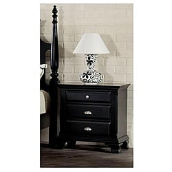 Canterbury Black Finish Nightstand