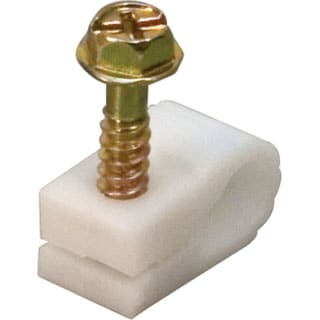 Steren BL-240-956WH-20 Coaxial Cable Mounting Clip