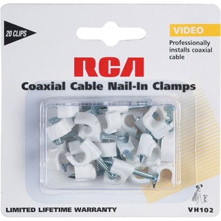 RCA Coaxial Cable Nail In Clamps in White Color