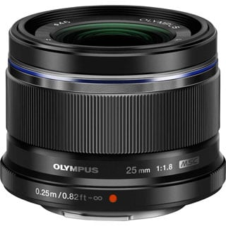 Olympus 25 mm f/1.8 Fixed Focal Length Lens for Micro Four Thirds
