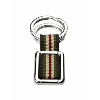 Metallic Cotton/ Stainless Steel Key Ring