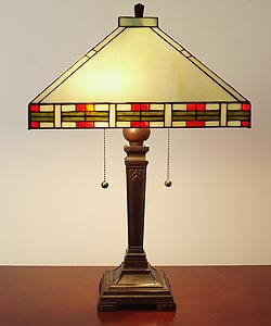 Tiffany-style Mission-style Table Lamp