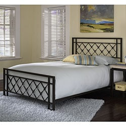 Lattice King-size Bed with Rectangular tube frame, diamond pattern
