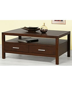 Creighton Walnut Cherry 4-drawer Coffee Table