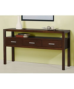 Creighton Walnut Cherry 3-drawer Console Table