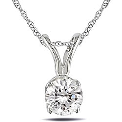 14-kt. Gold 1/3-ct (H-I-J/ I1-I2) Diamond Solitaire Pendant