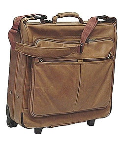 Rolling Leather Garment Bag