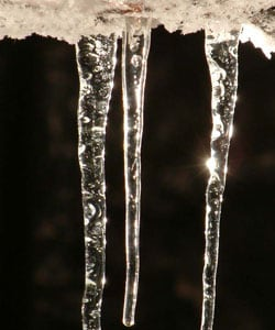 Handcrafted Recycled Glass Icicle Ornaments - 20 pack (India)