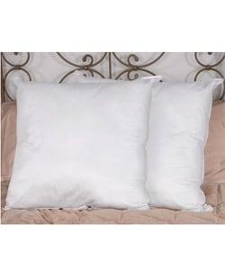 Down Alternative European Square Pillows (Set of 2)