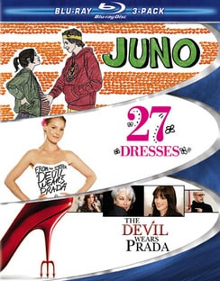 Chick Flick - 3-Pack (Juno / 27 Dresses / The Devil Wears Prada) (Blu-ray Disc)