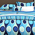 Retro Radar Blue 7-piece Bedding Ensemble