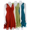 Max & Cleo Chiffon V-neck Dress : Women's Clothing from Overstock.com :  overstock lowest prices savings women