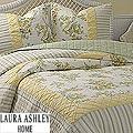 Laura Ashley Beth Ann Floral Patchwork Twin Size Mini Quilt Set