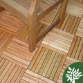 10pk of Shorea 8-slat Snapping Deck Tiles