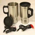 Stainless Steel Heated Travel Mugs (Set of 2)