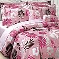 Bahamas Pink Microfiber Reversible 3-piece Comforter Set