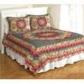 Sunlit Garden Cotton Patchwork Oversized Quilt Set