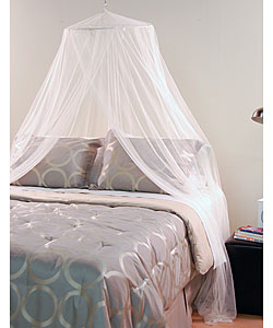 White Mosquito Net Canopy