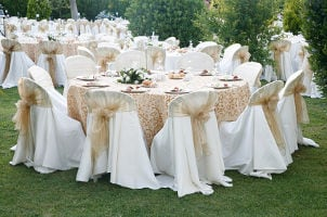 How to Decorate Chairs at Weddings
