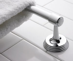 How to Install a Bathroom Towel Rack