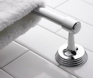 How to Install a Bathroom Towel Rack
