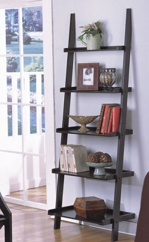 How to Organize a Ladder Shelf