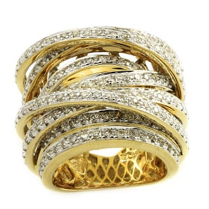How to Artfully Stack Gold Rings