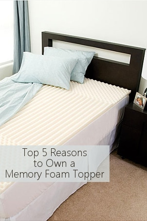 Top 5 Reasons to Own a Memory Foam Topper