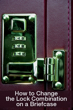 How to Change the Lock Combination on a Briefcase