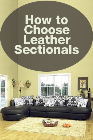 How to Choose Leather Sectionals