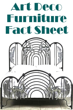 Art Deco Furniture Fact Sheet