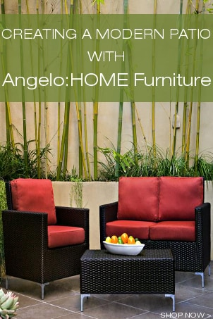 Creating a Modern Patio with AngeloHOME Furniture