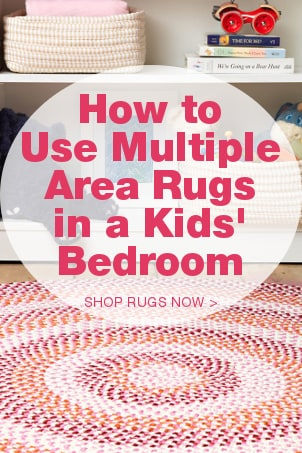 How to Use Multiple Area Rugs in a Kids' Bedroom