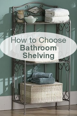 How to Choose Bathroom Shelving