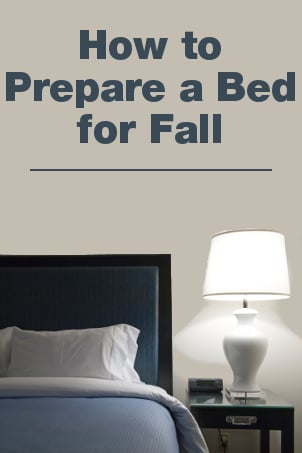 How to Prepare a Bed for the Fall